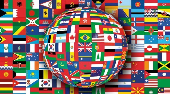 world flags animated